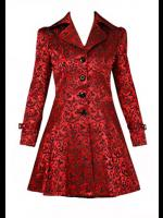 Red Damask Gothic Vampire Corset Jacket