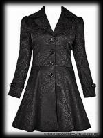 Plus Size Black Damask Gothic Vampire Corset Jacket