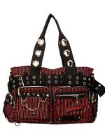Red & Black Striped Alternative Bag by Banned
