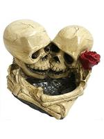 Lovers in Death Gothic Skulls Ornament