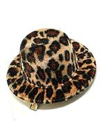 Gothic Burlesque Leopard Print Mini Hat Hair Clip