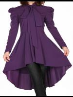 Plus Size Long Purple Gothic Victorian Blouse
