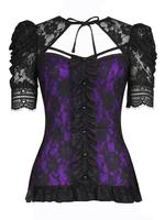 Black and Purple Lace Gothic Top