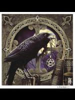 Black Raven Gothic Greetings Card