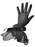 Black Mesh Gloves with Wide Cuffs