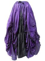Purple and Black Gothic Fairytale Silk Skirt