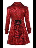 Plus Size Red Damask Gothic Vampire Corset Jacket
