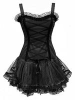 Black Gothic Dress, Punk Corset Tutu Prom