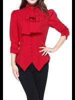 Red Gothic Victorian Steampunk Blouse