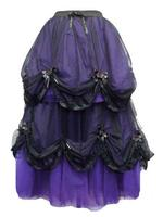 Long Purple & Black Romantic Gothic Fairytale Skirt