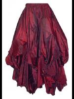 Dark Star Gothic Victorian Silky Long Red Skirt