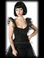 Fairy Goth Black Lace Bodice Top
