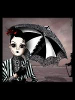 Gothic Greetings Card - The Beach