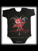 Baby's Black Gothic One Piece - Little Devil