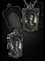 Lady & Skeleton Hologram Gothic Necklace & Brooch