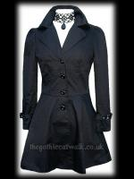 Plus Size Black Gothic Vampire Frock Jacket
