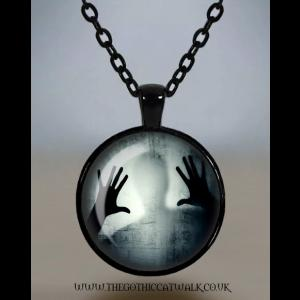 Man Behind Glass Cameo Necklace