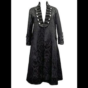 Mens Gothic Black Damask Highwayman's Coat