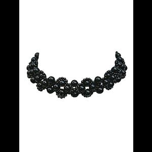 Gothic Victorian Black Beaded Choker #5