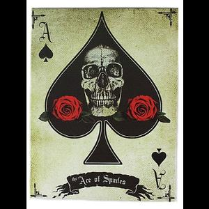 Ace of Spades Canvas Wall Plaque