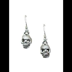 Gothic Pewter Skull Earrings