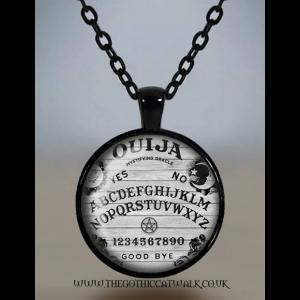 Ouija Board Glass Cameo Gothic Necklace