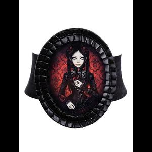 Red & Black Doll Cameo Gothic Belt by Restyle