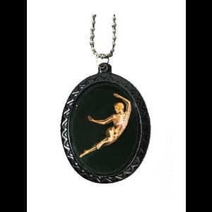 Gothic Cameo Necklace - Ballet Skeleton