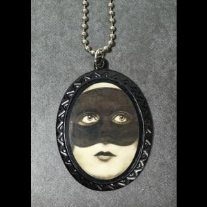 Gothic Cameo Necklace - Masked Lady