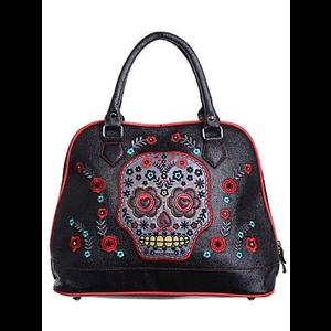 Embroidered Sugar Skull Bag by Banned