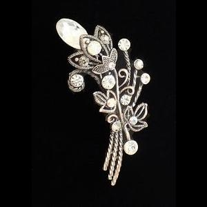 Victorian Style Crystal Bouquet Brooch