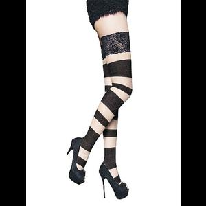 Black Gothic Punk Bandage Hold Ups #2