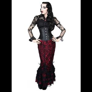 Red & Black Lace Gothic Corset Skirt