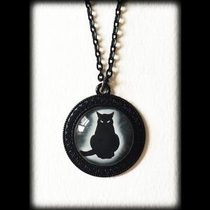 Black Cat Necklace - Gothic Witch