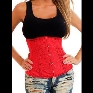 Red Damask Underbust Corset