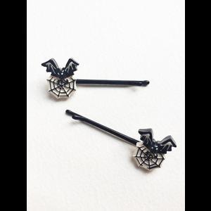 Bat and Cobweb Gothic Hairclips   Hats & Hair Accessories