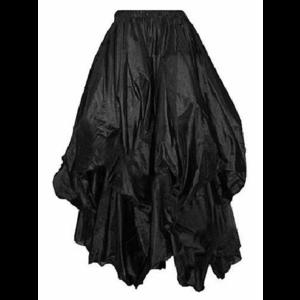 Dark Star Gothic Victorian Silky Long Black Skirt