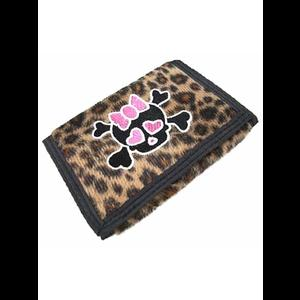 Leopard Skin Skull Punk Wallet Purse #1