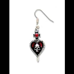 Alchemy Pierced Heart Dangle Earring