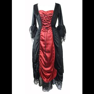 Black & Red Gothic Vampire Corset Dress