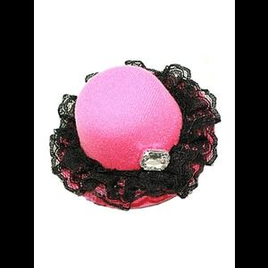 Gothic Burlesque Pink Mini Hat Hair Clip