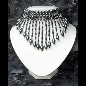Gunmetal Beaded Collar Choker