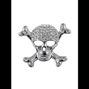 Diamante Gothic Skull & Crossbones Brooch