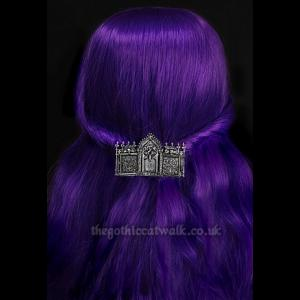 Large Triple Tombstone Gothic Hairclip