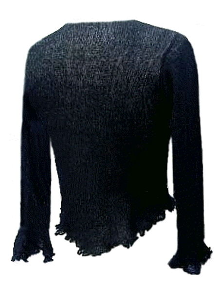 Black Knit Tie Front Cardigan