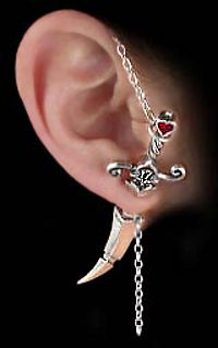 Pirate Cutlass Single Earring by Alchemy Gothic