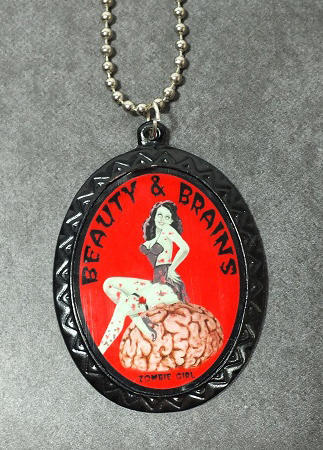 Pin Up Cameo Necklace - Beauty & Brains