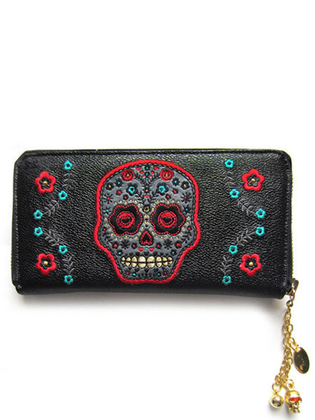 Banned Wallet with Grey Sugar Skull
