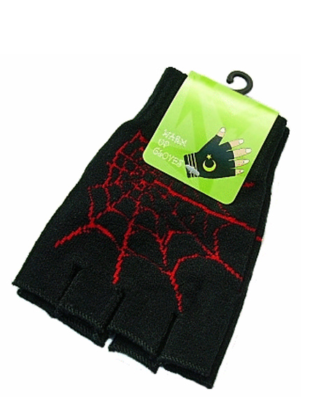 Gothic Punk Gloves - Spiders Web