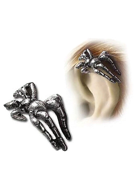 Creeping Familiar Pewter Spider Stud by Alchemy Gothic